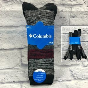 Columbia Men's Soft Cotton Blend Crew Socks